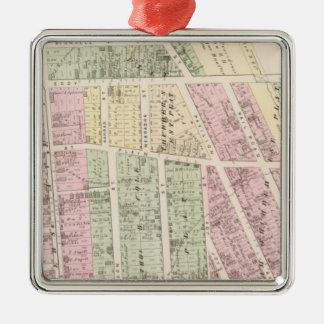 Landowners, store building maps Silver-Colored square decoration