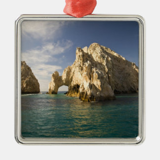 Land's End, The Arch near Cabo San Lucas, Baja Silver-Colored Square Decoration