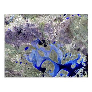 Landsat 7 Lake Carnegie Postcard