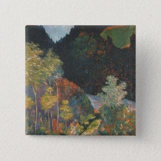 Landscape 15 Cm Square Badge