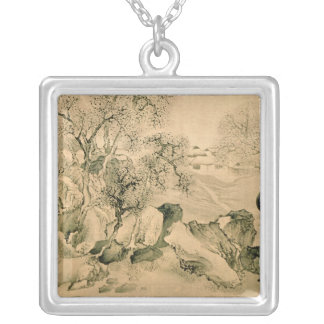 Landscape, 1771 silver plated necklace