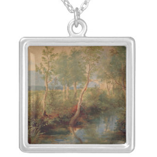 Landscape 2 silver plated necklace