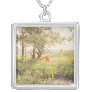 Landscape 3 silver plated necklace