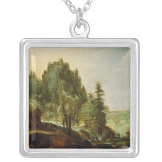 Landscape 4 silver plated necklace