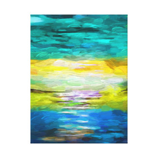 Landscape abstract Oil Paiting Wrapped Canvas Gallery Wrapped Canvas