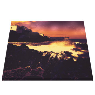 landscape altered colors 06 tenerife gallery wrapped canvas