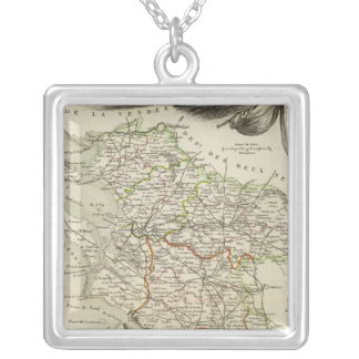 Landscape and Forest Silver Plated Necklace