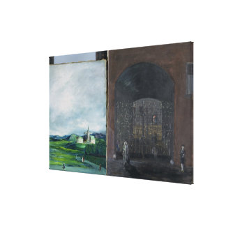 Landscape and street scene canvas print