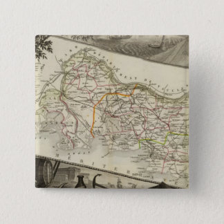 Landscape and towns 15 cm square badge
