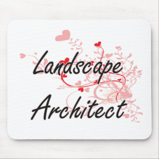 Landscape Architect Artistic Job Design with Heart Mouse Pad