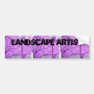 landscape artist car bumper sticker