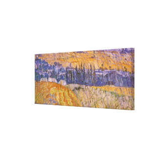 Landscape at Auvers in the Rain, Vincent van Gogh Canvas Print