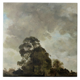 Landscape at Hampstead, Tree and Storm Clouds, c.1 Tile