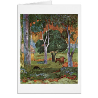 Landscape At La Dominique By Paul Gauguin Card