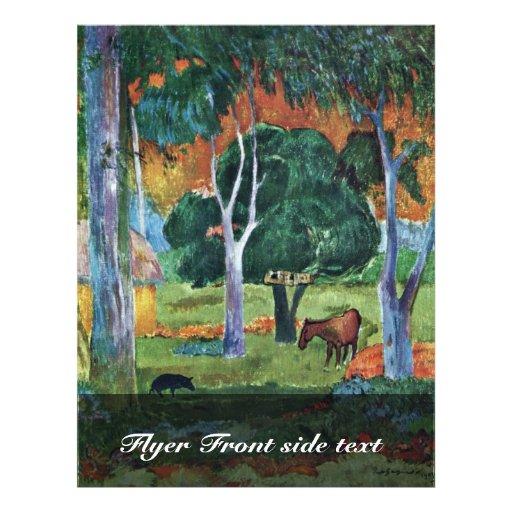 Landscape At La Dominique (Hiva Oa) By Gauguin Pau Flyer Design