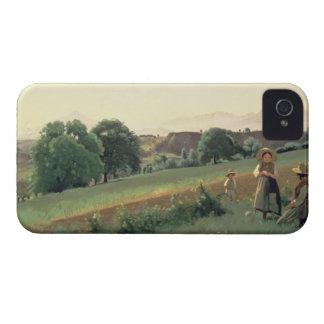 Landscape at Mornex, Haute-Savoie (oil on canvas) iPhone 4 Covers