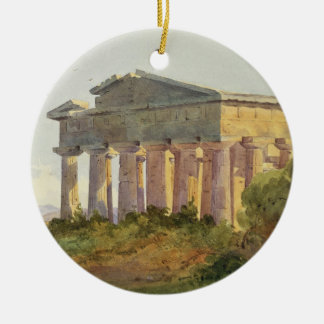 Landscape at Paestum (w/c on paper) Christmas Ornament