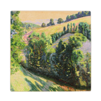 Landscape at Pontgibaud, c.1895 (oil on canvas) Wood Coaster