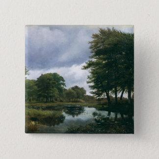 Landscape at Silkeborg, 1833 15 Cm Square Badge