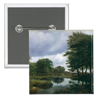 Landscape at Silkeborg, 1833 15 Cm Square Badge