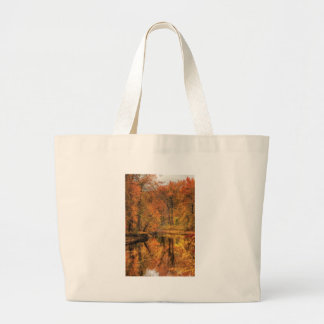 Landscape - Autumn in New Jersey Jumbo Tote Bag