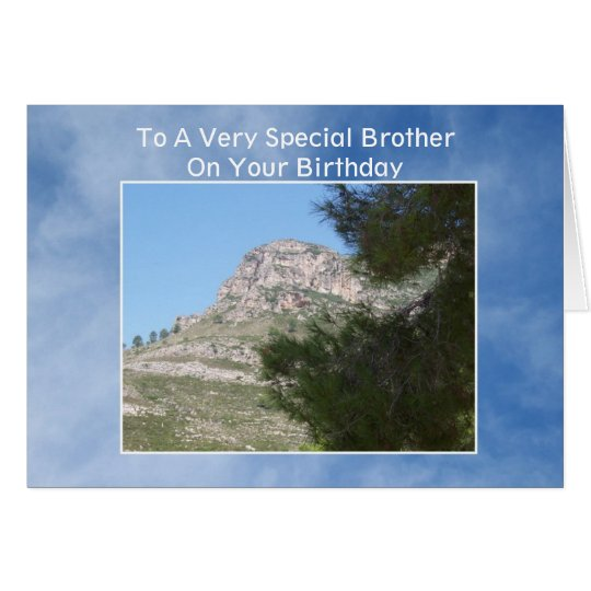 Landscape Brother Birthday Card