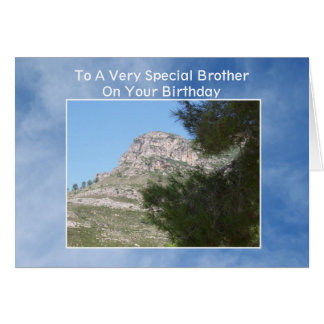 Landscape Brother Birthday Greeting Card