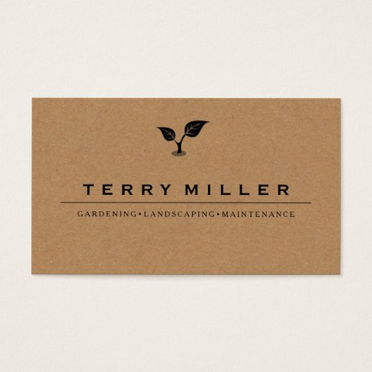 landscape business card / gardener business cards