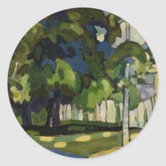 Landscape by Arman Manookian c. 1920's Round Sticker