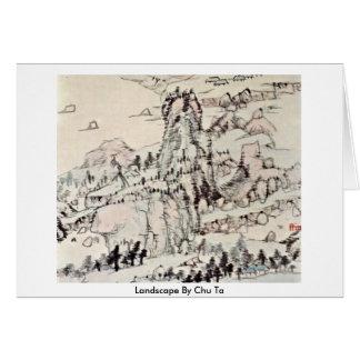 Landscape By Chu Ta Greeting Card