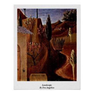 Landscape By Fra Angelico Poster