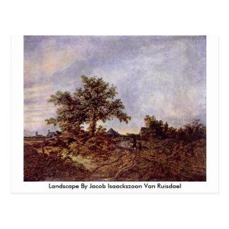Landscape By Jacob Isaackszoon Van Ruisdael Post Card