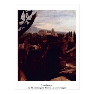 Landscape By Michelangelo Merisi Da Caravaggio Post Card