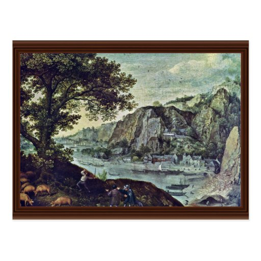 Landscape By Valckenborch Lucas Van (Best Quality) Postcards
