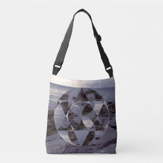 landscape collage crossbody bag