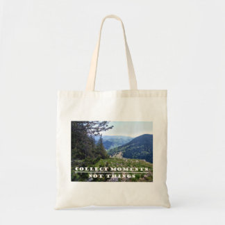 """Landscape """"COLLECT MOMENTS NOT THINGS""""  tote bag"""