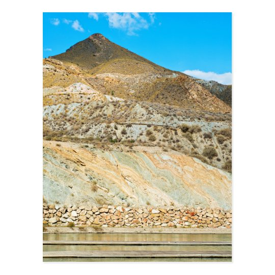 Landscape desert in Almeria, Andalusia, Spain Postcard