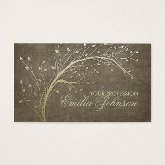 Landscape Designer Gardener Gold Tree Branch Card