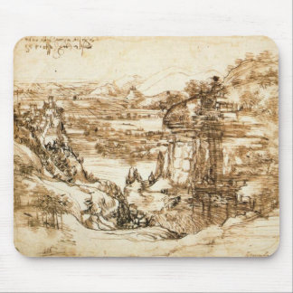 Landscape Drawing Mouse Pad
