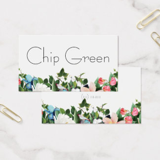 landscape floral flowers garden business card
