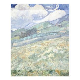 Landscape from Saint-Remy by Vincent Van Gogh 11.5 Cm X 14 Cm Flyer