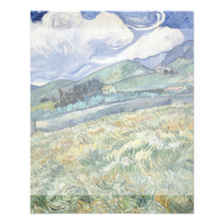 Landscape from Saint-Remy by Vincent Van Gogh Flyer Design