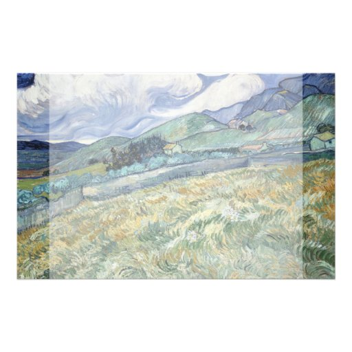 Landscape from Saint-Remy by Vincent Van Gogh Custom Flyer