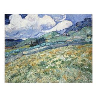 Landscape from Saint-Remy by Vincent Van Gogh Art Photo