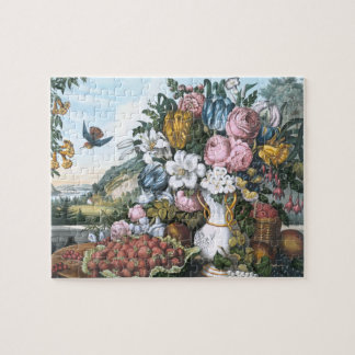 Landscape, Fruit and Flowers Jigsaw Puzzle