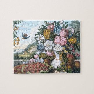 Landscape, Fruit and Flowers Puzzle