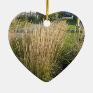 Landscape Grass matured  TEMPLATE add TEXT IMG Ceramic Heart Decoration
