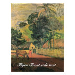 Landscape (Horse On The Way) By Gauguin Paul Personalized Flyer