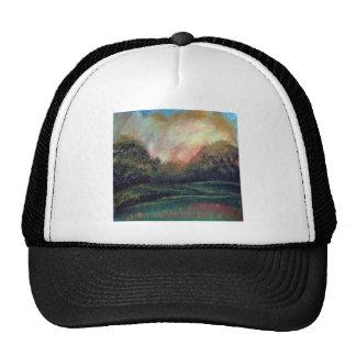 Landscape impressionism design trucker hats