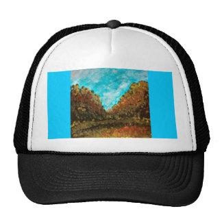 Landscape impressionism design mesh hat